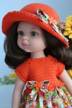 Маленькие модницы / Одежда и обувь для кукол своими руками / Бэйбики. Куклы фото. Одежда для кукол Crochet Baby Cap, Crochet Dress Girl, Crochet Fabric, Crochet Clothes, Crochet Hats, Knitted Romper, Knitted Dolls, Wellie Wishers, Vintage Dolls