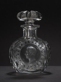 An Apsley Pellatt engraved scent flask and stopper with portrait of Lord Brougham, circa 1832