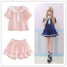 Kawaii Sailor Suit Soft Sister Dress Free shipping from Cutie Mori