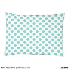 Aqua Polka Dots Dog Bed This design is available  on many products! Click the link and hit the 'Available On' button near the product description to see them all! Thanks for looking!  @zazzle #polka #dots #decor #home #design #dog #bed #pet #animal #friend #family #accessory #accessories #buy #sale #shop #shopping #owner #fun #sweet #fido #woof #awesome #cool #chic #modern #style #bed #collar #leash #bowl #tag #color #aqua