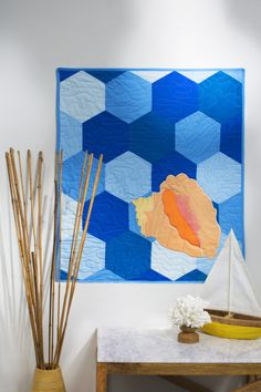= free pattern = Conch Shell hexagon quilt at Coats & Clark