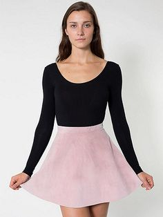 American Apparel - Suede Leather Circle Skirt Winter Skirt cbd073cc8