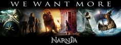 WE WANT MORE NARNIA <-- aren't they making the Silver Chair?<---Yes but not until 2017 I think. :/