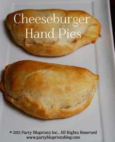 Cheeseburger Hand Pies  - #Cheeseburger #Handpie #Recipe