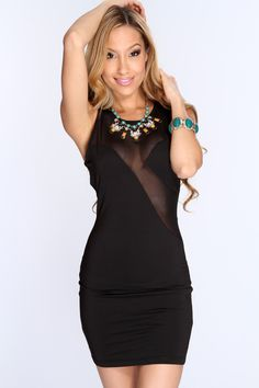 Ultra stretchy wear, ultra elegant and exquisite detail make this bodycon sexy dress a stellar day-to-night essential. This is a super-sexy scene stealer dress! This sizzling little piece features scoop neckline, sleeveless style, short length, mesh cutouts throughout, and finished with a curvacious tight fit. 90% polyester 10% spandex.
