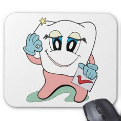 Dentist Checkup ~ Dental Dentist Denturist Mouse Pad