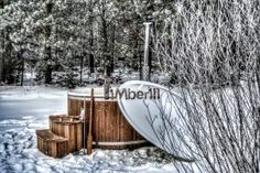 Wood Fired Hot Tubs Winter