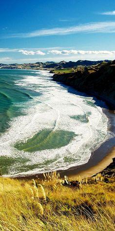 Christmas Bay, Wairarapa, North Island, New Zealand.