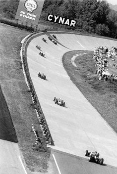 Italian GP at Monza, Parabolica banked curve, 1960.