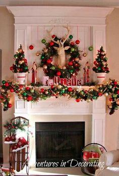our 2012 christmas mantel christmas decorations seasonal holiday decor
