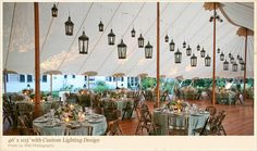 Tidbits on Weddings by Destination Planner & Designer Kelly McWilliams: Have you ever seen a pretty tent? Look at these Sperry Tents!