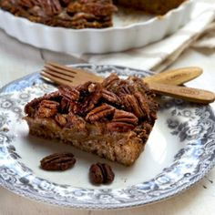 Delicious, totally healthy pecan pie! Easy to make, plus a video tutorial. Gluten, dairy & refined sugar free, vegan.