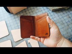 How we make our BEST selling leather wallet - No.52 Vertical Wallet - YouTube