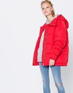 Quilted hooded jacket - Coats and jackets - Clothing - Woman - PULL BEAR  United Kingdom e1d1736dd580
