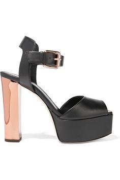 GIUSEPPE ZANOTTI Leather Platform Sandals. #giuseppezanotti #shoes #sandals