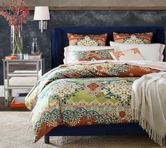 Rochella Upholstered Bed   Pottery Barn