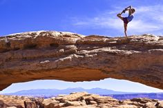 Mesa Arch provides the most epic landscape for a little #yoga. Take your practice on the road and share your epic moments with us at gopro.com/submit #GoPro #GoProGirl