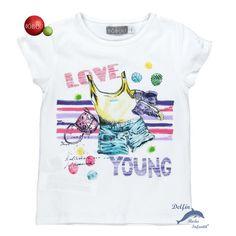 "Camiseta de niña BOBOLI manga corta ""Love Young"""