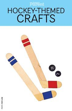 make mini hockey sticks Have a hockey lover in your house? Get them to make these DIY hockey sticks!Have a hockey lover in your house? Get them to make these DIY hockey sticks! Popsicle Stick Crafts, Craft Stick Crafts, Crafts For Kids, Popsicle Sticks, Kids Sports Crafts, Sports Activities For Kids, Craft Sticks, Card Crafts, Hockey Birthday