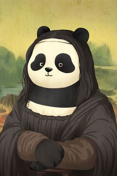 Here at Bored Panda, we're pretty much obsessed with two things - pandas, and art. When a Chinese illustrator combined them together to put a fun twist on Panda Kawaii, Niedlicher Panda, Bored Panda, We Bare Bears Wallpapers, Panda Wallpapers, Cute Wallpapers, Cute Panda Wallpaper, Bear Wallpaper, Cartoon Wallpaper
