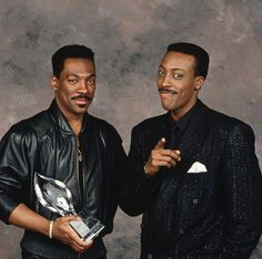 Eddie Murphy and Arsenio Hall Funny Comedians, Harlem Nights, Trading Places, Black Art Pictures, Eddie Murphy, Golden Child, American Country, Saturday Night Live, Actors & Actresses
