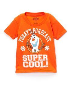 Loving this Orange Frozen Olaf Graphic Tee - Toddler on #zulily! #zulilyfinds