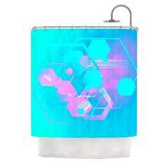 KESS InHouse Emersion by Infinite Spray Art Shower Curtain