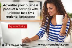 Advertise your business product & services with your regional languages. Unicode Bulk sms enables you to send SMS messages in the language of your choice. Know more details visit : http://www.mysmsindia.com/