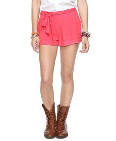 Cuffed Shorts w/ Belt | FOREVER21 - 2000038908
