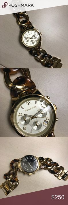 Michael Kors gold/tortoise watch Michael Kors gold/tortoise watch. Such a gorgeous watch that goes with everything! In excellent condition! KORS Michael Kors Accessories Watches