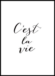 Poster with French text, quote in black and white.- Plakat mit französischem Text, quote in Schwarz-Weiß. Poster with French text, quote in black and white. Text Quotes, Words Quotes, Life Quotes, Sayings, Black & White Quotes, Black And White Prints, Framed Quotes, Quotes In Frames, French Quotes