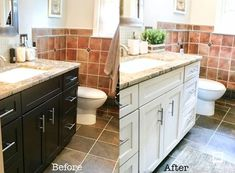 how i painted my bathroom cabinets with video tutorial
