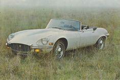 Jaguar E-Type series 3 V-12 Convertble, advertising postcard, USA, about 1973