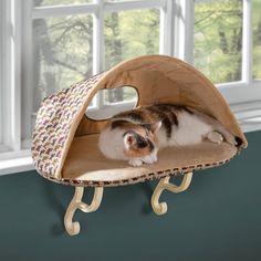 The Cat's Warming Window Seat - Hammacher Schlemmer