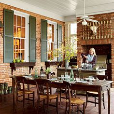 Real-Life Redo: A New Old Porch | The Outdoor Kitchen | SouthernLiving.com