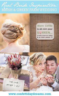 South African Wedding: Blush and Green Rustic Outdoor Farm Wedding