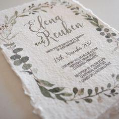 "0 Likes, 1 Comments - TruePaperTales (@truepapertales) on Instagram: ""New wedding invitation range! Graceful watercolour foliage. Exquisite handmade paper from…"""