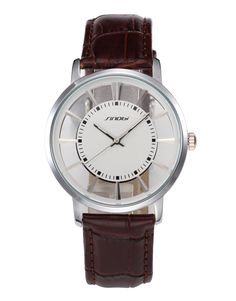 sinobi Windmill dial Two needles and a half Movement couple watches high-quality PU leather with crocodile strap watch