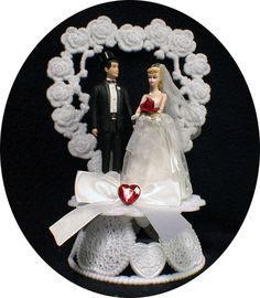 1950 STYLE Blond Hair Barbie Ken Wedding Cake by YourCakeTopper, $69.00