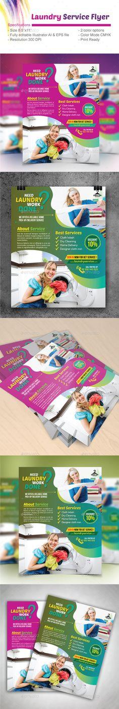 laundry service flyer by design_station laundry service flyer editable specifications size