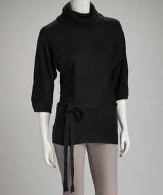 Take a look at this Black Tie-Front Sweater - Women & Plus by Women's Blow-Out Sale on #zulily today!