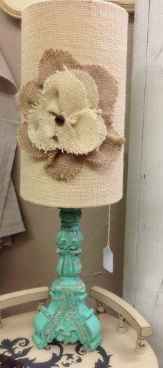 @Lynn Kellerélie Cotarmanac'h Market Shabby Chic - A beautiful lamp shade and stand.