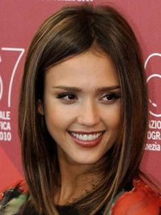 Long Haircuts for Heart Shaped Faces: Long Bob, Jessica Alba
