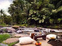 Set in Ubud, the cultural heart of Bali, Mandapa, a Ritz-Carlton Reserve is a luxury hotel along the riverfront and surrounded by natural beauty. Ubud Hotels, Hotels And Resorts, Best Hotels, Unusual Hotels, Most Luxurious Hotels, Resort Bali, Mansion Rooms, Bali Holidays, Outdoor Furniture Sets