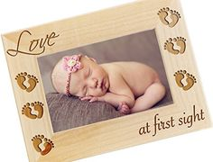 Love at First Sight, Newborn Picture Frame, Wood Photo Frame - New Baby Gifts, Newborn Photography Props - >>> You can find out more details at the link of the image. (This is an affiliate link) Engraved Picture Frames, 4x6 Picture Frames, Personalized Picture Frames, Newborn Baby Gifts, New Baby Gifts, Photo Frame Design, Picture Engraving, Western Crafts, Gift Wraping