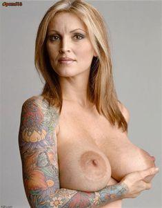 Nude women with tatooed breasts