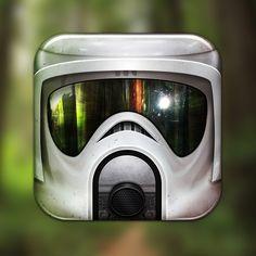 "Amazing #StarWars #iOS icon ""Scout Trooper"""