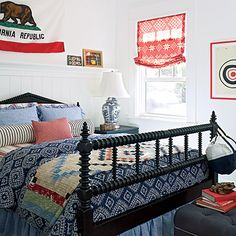 """We designed this to be a classic summerhouse bedroom,"" says Showhouse designer Betsy Burnham. CoastalLiving.com"