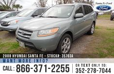2008 Hyundai Santa Fe - Sport Utility Vehicle - V6 3.3L Engine - Alloy Wheels - Spoiler - Tinted Windows - Fog Lights - Roof Racks - Tan Leather Interior - Safety Airbags - Powered Windows/Locks/Mirrors/Driver Seat - Seats 5 - AM/FM/CD/MP3/XM - Heated Front Seats - Sunroof - HomeLink - Cruise Control and more!