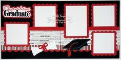 Scrapbook Page Kit Graduation School Boy by TheScrapbookEmporium, $10.00
